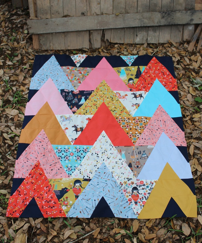 Tipi Quilt Pattern And Tutorial For Sewing 60 Degree Triangles